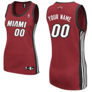 Camiseta Authentic Personalizadas Miami Heat Alternate Rojo - Mujer