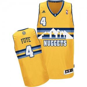 Camiseta NBA Denver Nuggets Randy Foye #4 Alternate Adidas Oro Swingman - Hombre