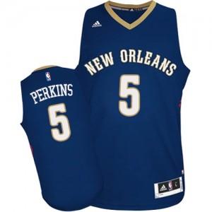 Camiseta Swingman Kendrick Perkins #5 New Orleans Pelicans Road Azul marino - Hombre