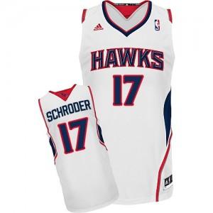 Camiseta NBA Home Atlanta Hawks Blanco Swingman - Hombre - #17 Dennis Schroder