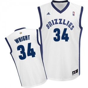 Camiseta NBA Swingman Brandan Wright #34 Home Blanco - Memphis Grizzlies - Hombre