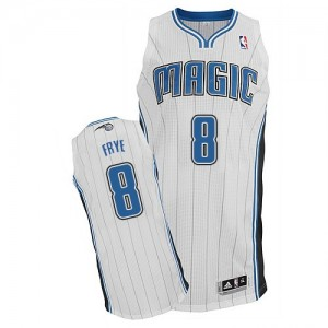 Orlando Magic Adidas Home Blanco Authentic Camiseta de la NBA - Channing Frye #8 - Hombre