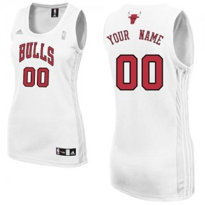 Camiseta NBA Chicago Bulls Authentic Personalizadas Home Adidas Blanco - Mujer