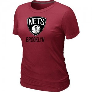T-Shirt Primary Logo Mujer NBA Brooklyn Nets Big & Tall Rojo