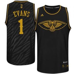 Camiseta NBA Swingman Tyreke Evans #1 Precious Metals Fashion Negro - New Orleans Pelicans - Hombre