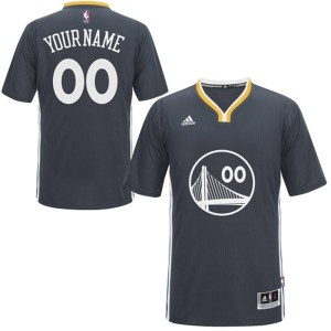 Golden State Warriors Adidas Alternate Negro Camiseta de la NBA - Authentic Personalizadas - Hombre