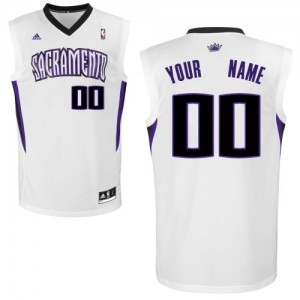 Adolescentes Camiseta Swingman Personalizadas Sacramento Kings Adidas Home Blanco