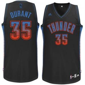 Hombre Camiseta Kevin Durant #35 Oklahoma City Thunder Adidas Vibe Negro Swingman