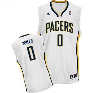 Hombre Camiseta C.J. Miles #0 Indiana Pacers Adidas Home Blanco Swingman
