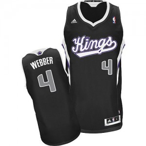 Sacramento Kings Adidas Alternate Negro Swingman Camiseta de la NBA - Chris Webber #4 - Hombre