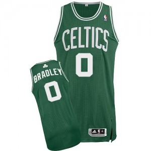 Camiseta Authentic Avery Bradley #0 Boston Celtics Road Verde (Blanco No.) - Hombre