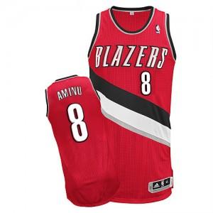 Camisetas Baloncesto Hombre NBA Portland Trail Blazers Alternate Authentic Al-Farouq Aminu #8 Rojo