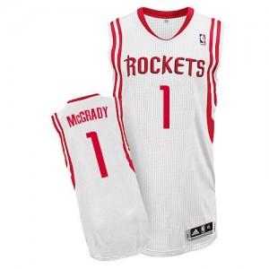 Hombre Camiseta Tracy McGrady #1 Houston Rockets Adidas Home Blanco Authentic