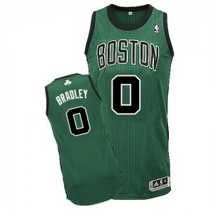 Camiseta Authentic Avery Bradley #0 Boston Celtics Alternate Verde (negro No.) - Hombre