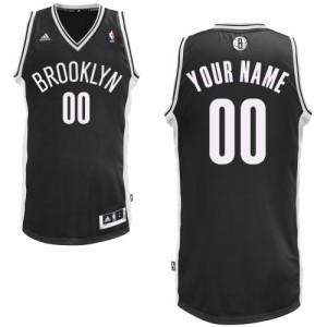 Hombre Camiseta Swingman Personalizadas Brooklyn Nets Adidas Road Negro