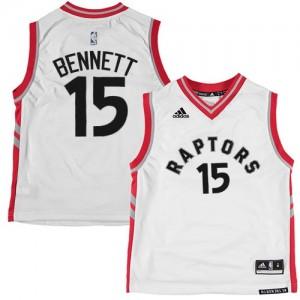 Camiseta Swingman Anthony Bennett #15 Toronto Raptors Blanco - Hombre
