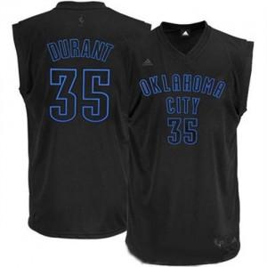 Camiseta NBA Oklahoma City Thunder Kevin Durant #35 Adidas Negro Swingman - Hombre