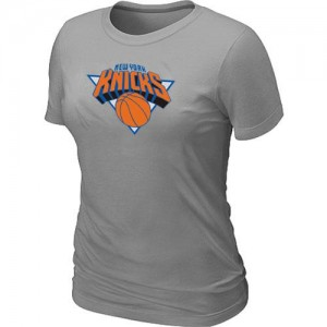 T-Shirts NBA New York Knicks Big & Tall Gris - Mujer