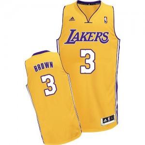 Los Angeles Lakers Adidas Home Oro Swingman Camiseta de la NBA - Anthony Brown #3 - Hombre