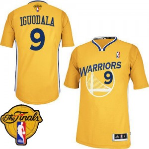 Camisetas Baloncesto Hombre NBA Golden State Warriors Alternate 2015 The Finals Patch Authentic Andre Iguodala #9 Oro