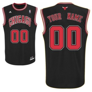 Camiseta NBA Chicago Bulls Swingman Personalizadas Alternate Adidas Negro - Adolescentes