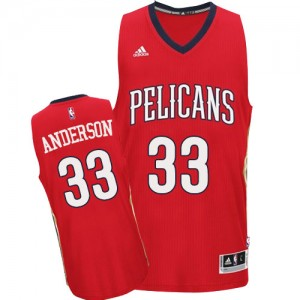 Camiseta NBA Authentic Ryan Anderson #33 Alternate Rojo - New Orleans Pelicans - Hombre