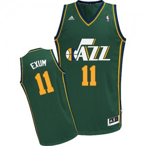 Camiseta NBA Utah Jazz Dante Exum #11 Alternate Adidas Verde Swingman - Hombre