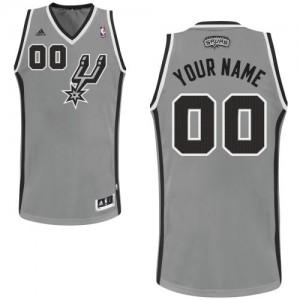San Antonio Spurs Adidas Alternate Gris plateado Camiseta de la NBA - Swingman Personalizadas - Adolescentes