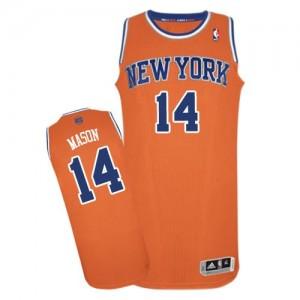 Camiseta NBA Authentic Anthony Mason #14 Alternate naranja - New York Knicks - Hombre
