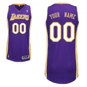 Camisetas Baloncesto Hombre NBA Los Angeles Lakers Road Authentic Personalizadas Púrpura