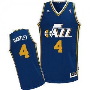 Camiseta NBA Utah Jazz Adrian Dantley #4 Road Adidas Azul marino Swingman - Hombre