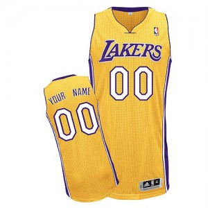 Camisetas Baloncesto Hombre NBA Los Angeles Lakers Home Authentic Personalizadas Oro