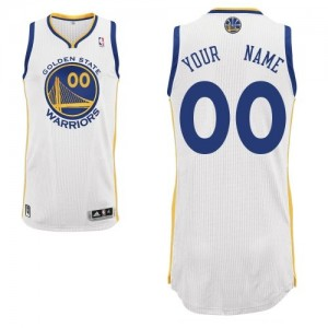 Golden State Warriors Adidas Home Blanco Camiseta de la NBA - Authentic Personalizadas - Adolescentes