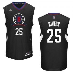 Camisetas Baloncesto Hombre NBA Los Angeles Clippers Alternate Authentic Austin Rivers #25 Negro