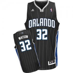 Hombre Camiseta C.J. Watson #32 Orlando Magic Adidas Alternate Negro Swingman