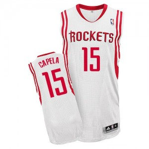 Camisetas Baloncesto Hombre NBA Houston Rockets Home Authentic Clint Capela #15 Blanco