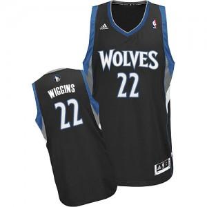 Minnesota Timberwolves Adidas Alternate Negro Swingman Camiseta de la NBA - Andrew Wiggins #22 - Hombre