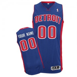 Hombre Camiseta Authentic Personalizadas Detroit Pistons Adidas Road Azul real