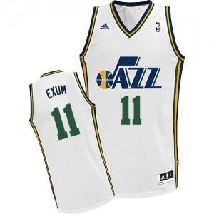 Camiseta NBA Utah Jazz Dante Exum #11 Home Adidas Blanco Swingman - Hombre