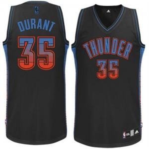 Camisetas Baloncesto Hombre NBA Oklahoma City Thunder Vibe Authentic Kevin Durant #35 Negro