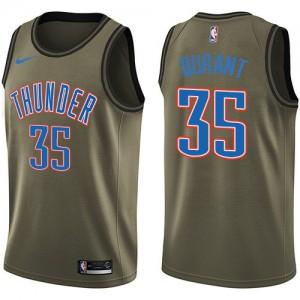 Camiseta Swingman Kevin Durant #35 Salute To Service Verde - Oklahoma City Thunder - Hombre