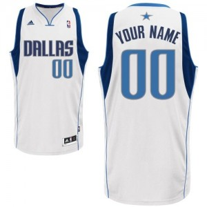 Adolescentes Camiseta Swingman Personalizadas Dallas Mavericks Adidas Home Blanco