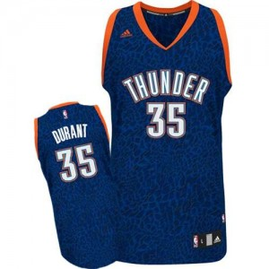 Hombre Camiseta Kevin Durant #35 Oklahoma City Thunder Adidas Crazy Light Azul Swingman