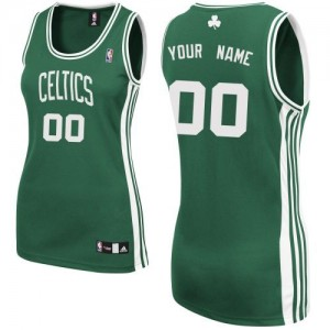 Camiseta NBA Authentic Personalizadas Road Verde (Blanco No.) - Boston Celtics - Mujer