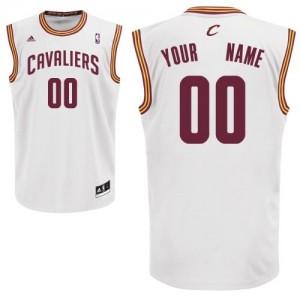 Camiseta NBA Cleveland Cavaliers Swingman Personalizadas Home Adidas Blanco - Adolescentes