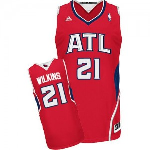 Camiseta NBA Alternate Atlanta Hawks Rojo Swingman - Hombre - #21 Dominique Wilkins