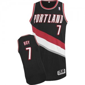 Camisetas Baloncesto Hombre NBA Portland Trail Blazers Road Authentic Brandon Roy #7 Negro