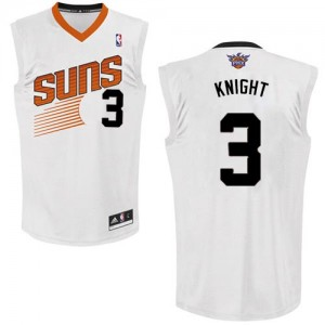 Camiseta NBA Phoenix Suns Brandon Knight #3 Home Adidas Blanco Authentic - Hombre
