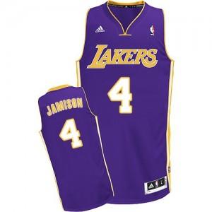 Los Angeles Lakers Adidas Road Púrpura Swingman Camiseta de la NBA - Byron Scott #4 - Hombre