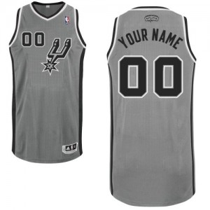 Hombre Camiseta Authentic Personalizadas San Antonio Spurs Adidas Alternate Gris plateado